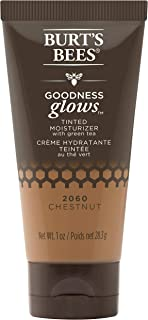 product image for Burt's Bees Goodness Glows Tinted Moisturizer, Rich in Antioxidants, Chestnut, 1.0 Ounce