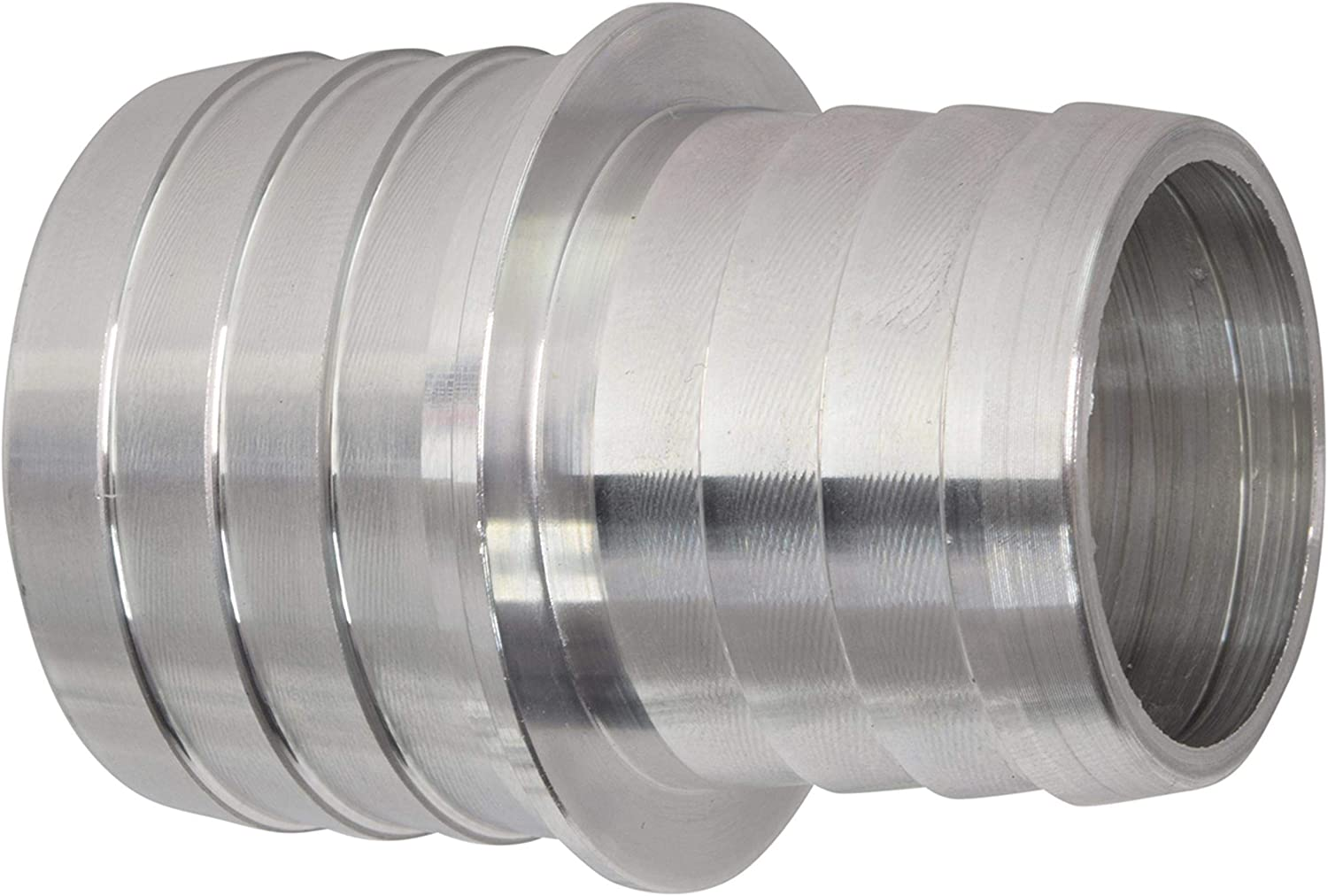 """ICT Billet 1-1/4"""" to 1-1/2"""" Inch Hose Barb Splice Coupler Repair Reducer Fitting Adapter Connector Radiator Coolant Intercooler Heat Exchanger Fluid Manufactured in USA Aluminum AN627-21A"""