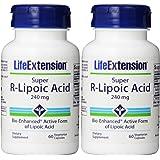 Life Extension Super R-Lipoic Acid, 240mg, 60 Vegetarian Capsules (2 Pack)