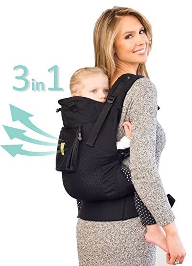 855b9b15a5b Amazon.com   LÍLLÉbaby 3 in 1 CarryOn Toddler Carrier - Airflow ...