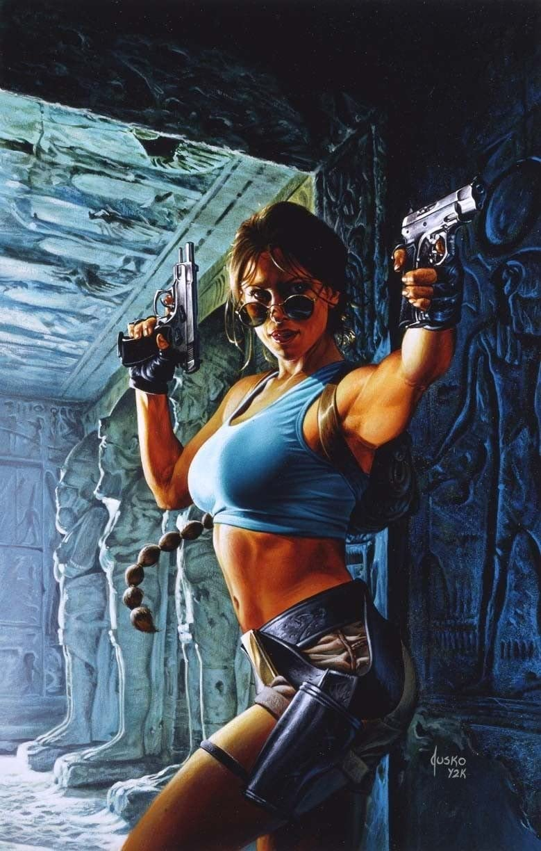 TOMB RAIDER Original Movie Poster 24x36 - Single-Sided - Joe Jusko Top Cow/Image