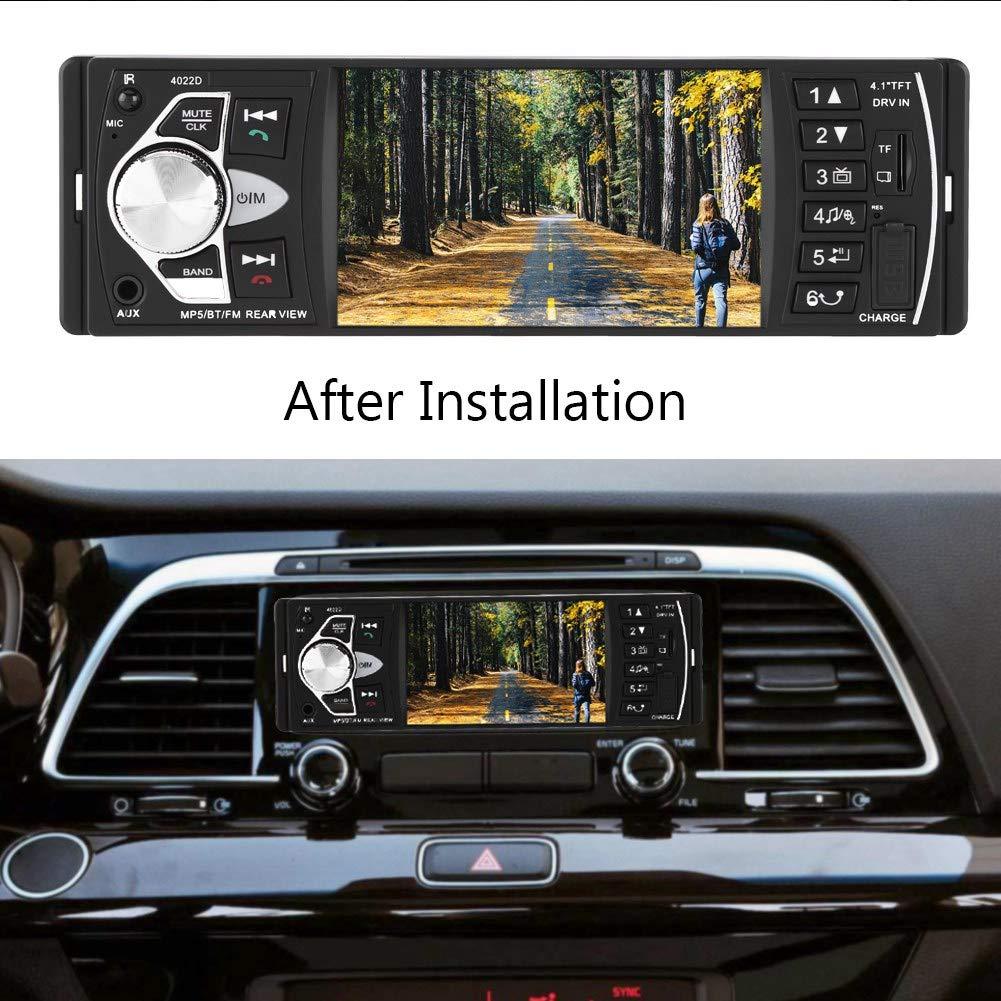 Audio Bluetooth stereo per auto touch screen da 4,1 pollici 4022D con telecomando per fotocamera e volante