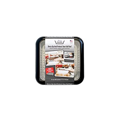 Fancy Panz FP88011C12 Black Protector and Portable Casserole Carrier, 100% Made in USA, BPA Free, Fits 8 x 8 Inch Steam, 8 x 8 Foil Pan Included: Automotive