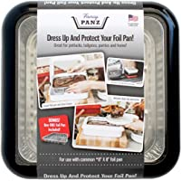 Fancy Panz 8 x 8-Inch Dress Up and Protect Your Foil Pan, 100% Made in USA, 8 x 8 Foil Pan Included. Hot or Cold Food…