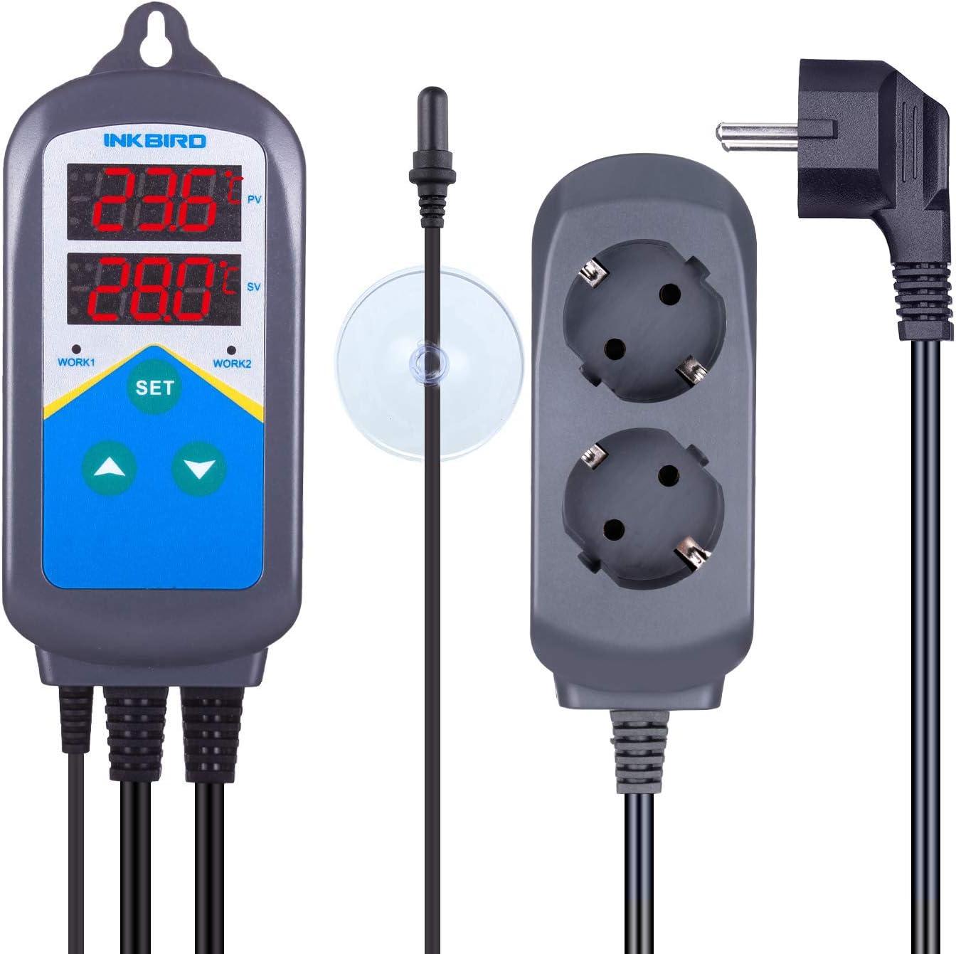 Inkbird ITC-306T Termostato Digital Control de Temperaturas para ...