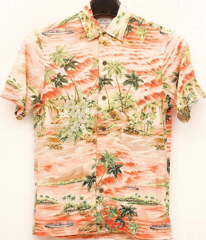 (ダブルアールエル) RRL トロピカル プリント キャンプ シャツ アロハ ハワイアン メンズ Tropical Print Camp Shirt 並行輸入品 [並行輸入品] B07FVRBMNN L