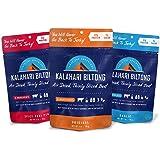 Kalahari Biltong | Air-Dried Thinly Sliced Aged Beef | Zero Sugar | Gluten-Free & non-GMO | Better than Jerky | Variety Pack | 2oz (Pack of 3)
