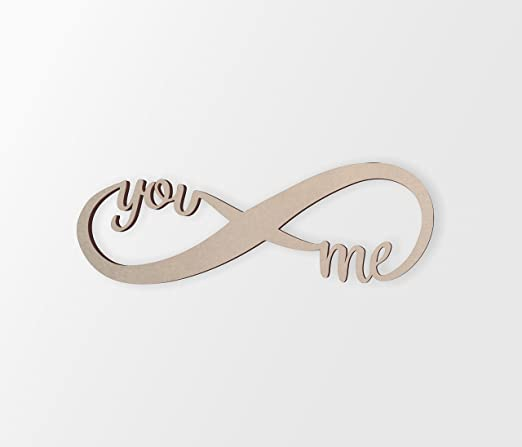 Unfinished ME Wall Decor Word Cutout Home Decor
