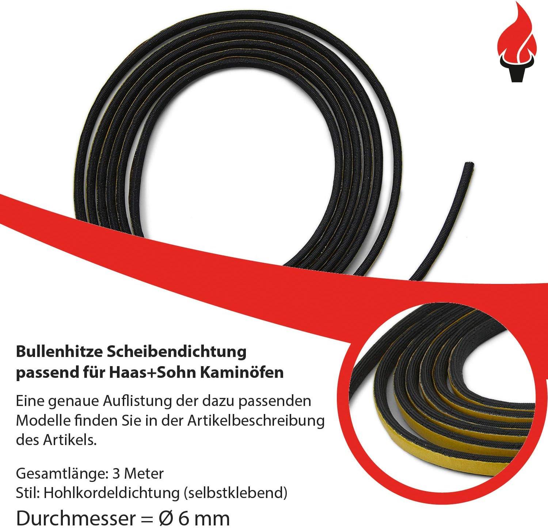 Joint /à cordon creux de 6 mm Adh/ésif pour chemin/ée 3 m de diam/ètre Convient pour diff/érents mod/èles Haas+Sohn