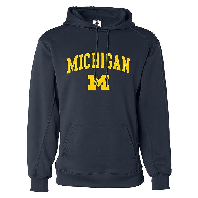 UGP Campus Apparel NCAA Arch Logo, Team Color Performance Fleece Hoodie, College, University