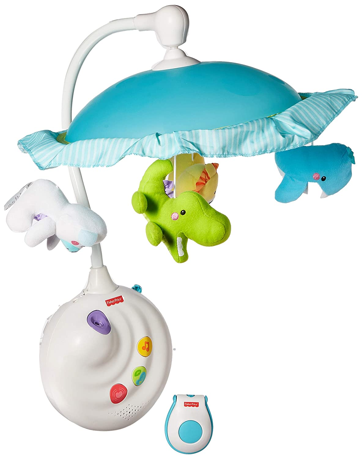 9c3a7ebf1e2a2 Amazon.com   Fisher Price Precious Planet 2-in-1 Projection Mobile -  Replacement Hanging Toy Animals   Baby