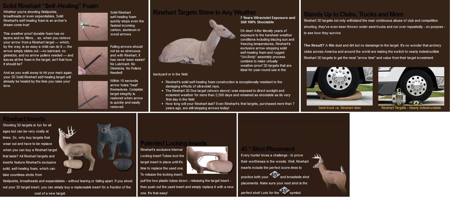 Rinehart Targets 109 Browsing Buck Self Healing Deer Archery Target w/ Apple