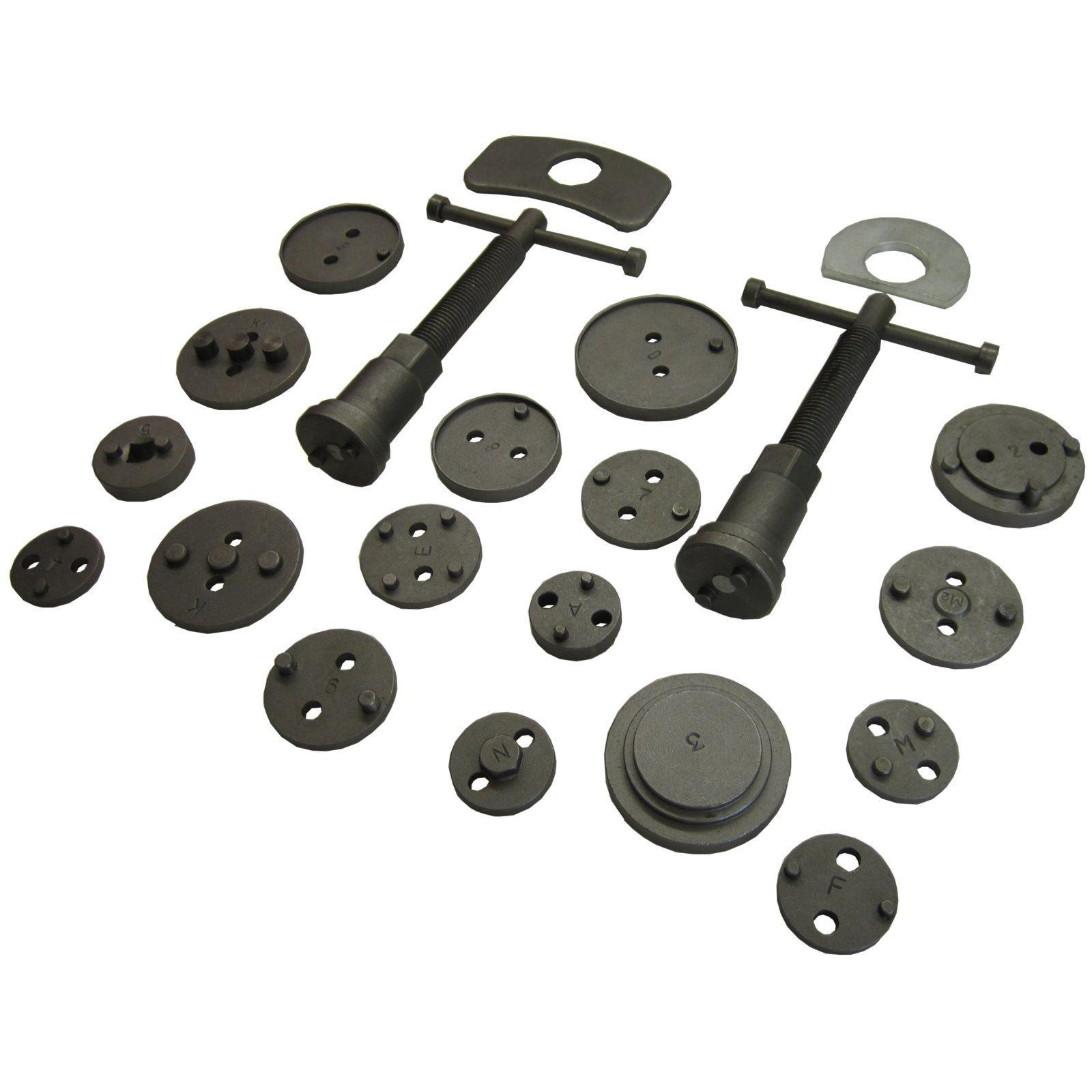 AB Tools-Toolzone 21pc Left and Right Hand Brake Calliper Piston Wind Back Tool Kit TE521