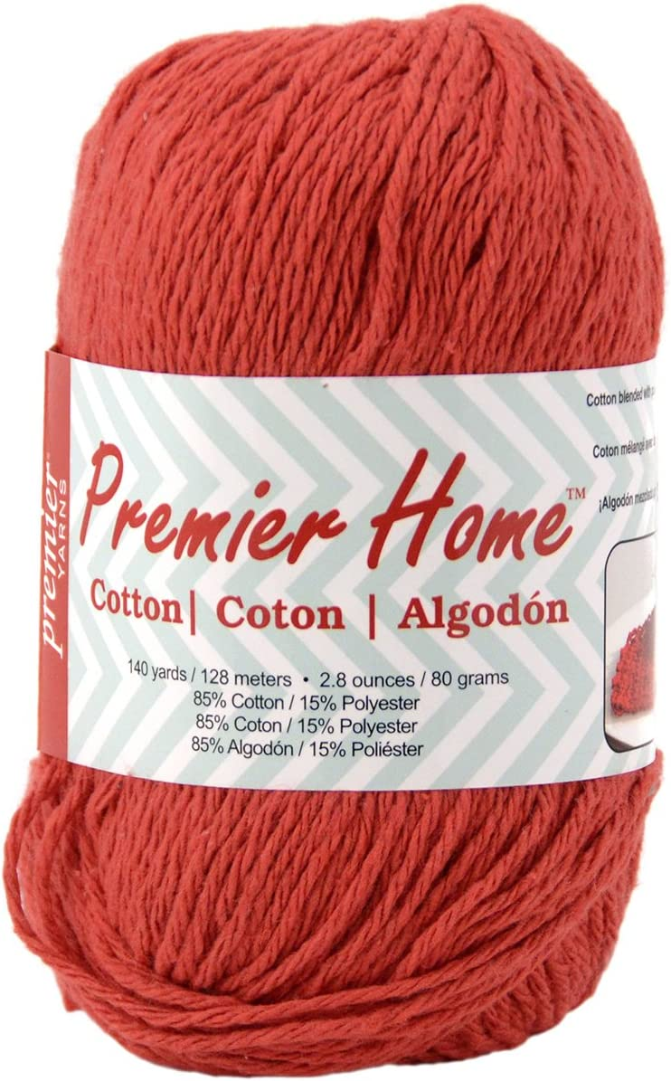 Premier Yarns Home Cotton Yarn, Solid Cranberry