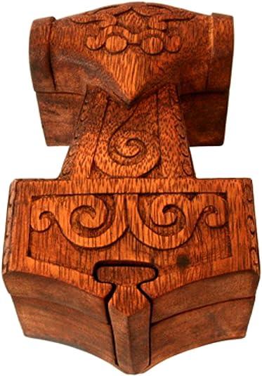 Joyero con forma de martillo de Thor, martillo tratado (joyero de madera), caja para joyas Mjölnir, joyeros: Amazon.es: Joyería