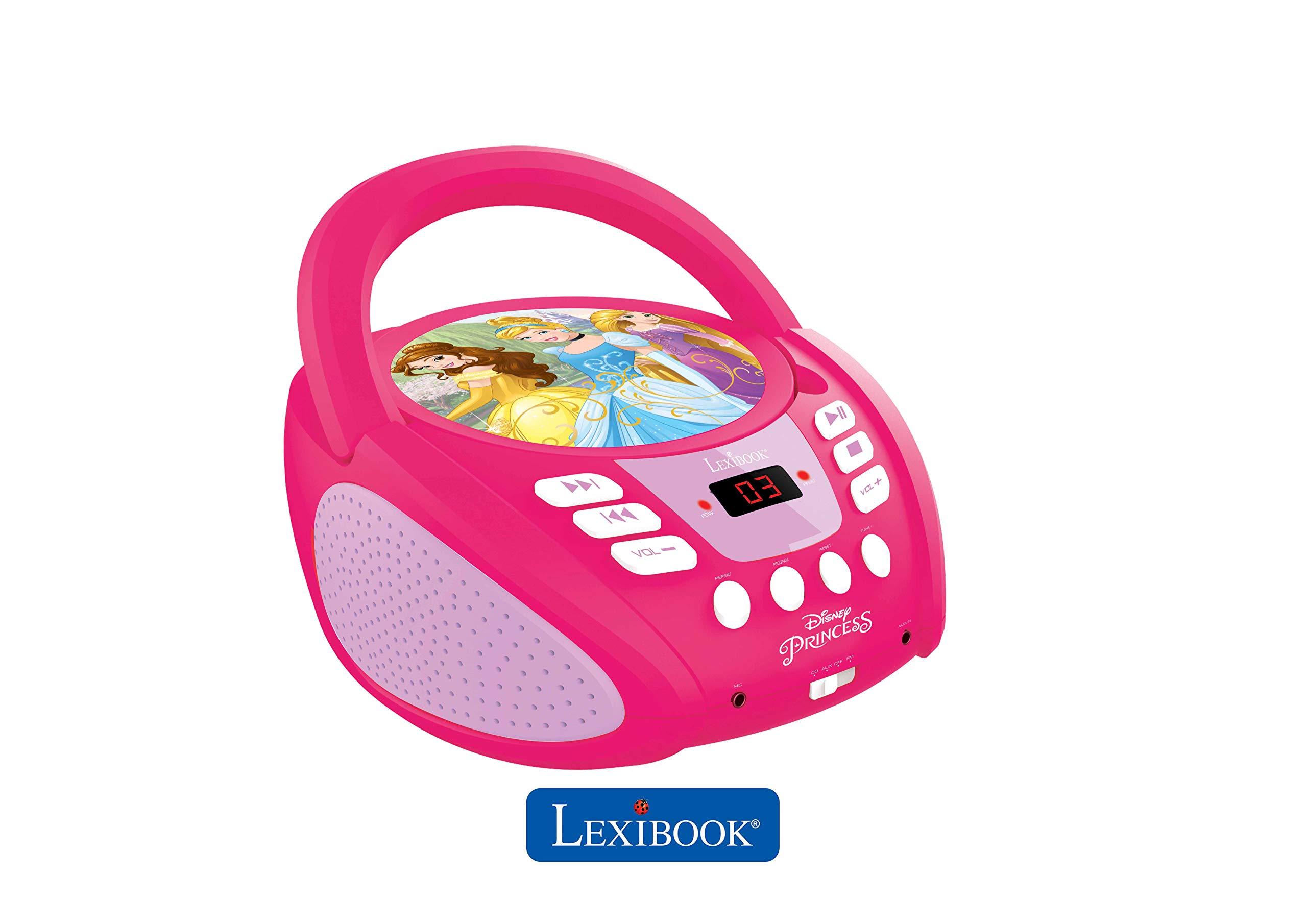 LEXiBOOK Disney Princess Boombox Radio CD Player by LEXiBOOK (Image #4)