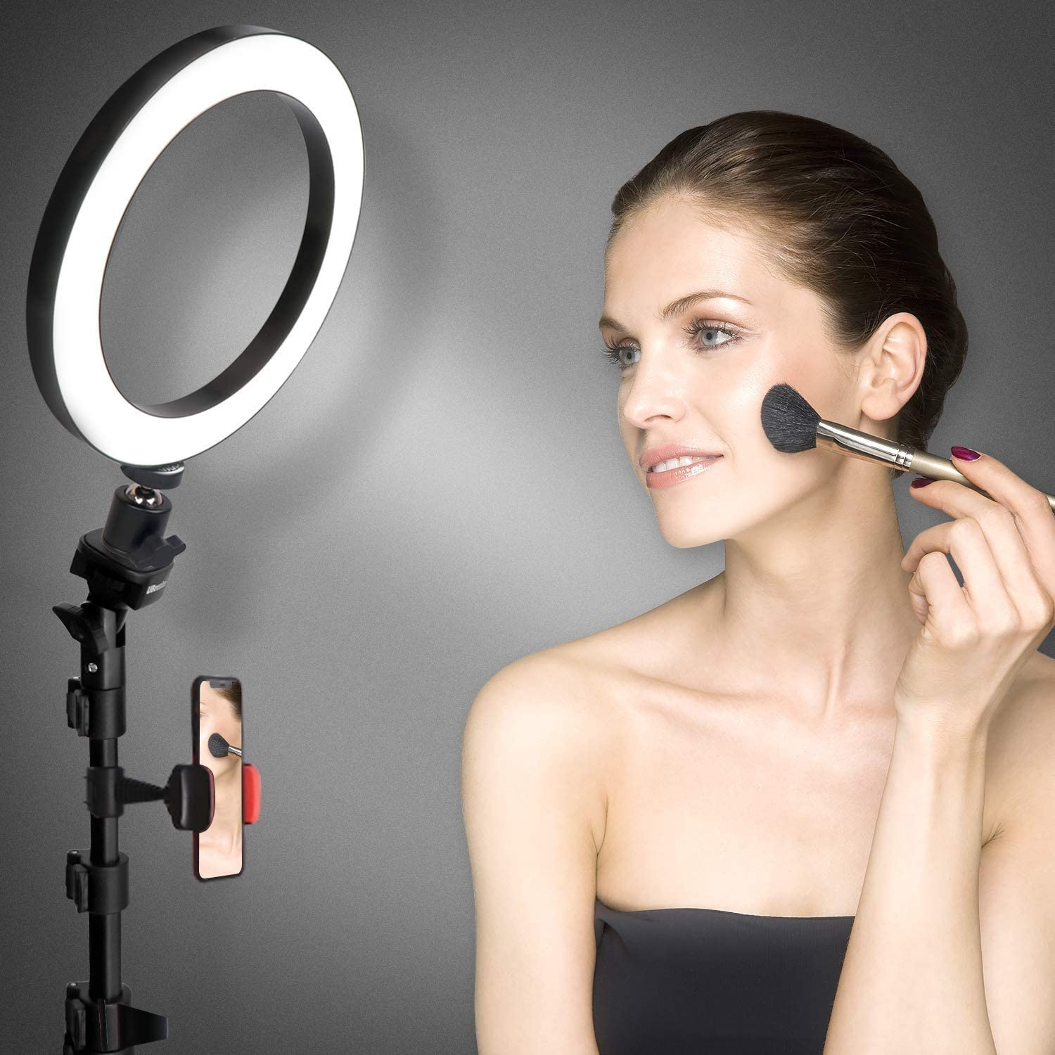 8 inch Selfie Ring Light with Tripod and Mobile Phone Holder for Live Makeup Light Ring Miniature led Camera Ring Light for YouTube Video Photography