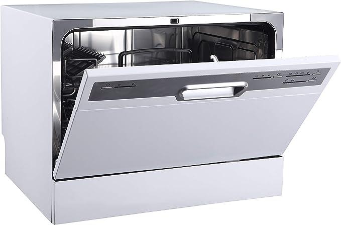 Tischgeschirrspüler PKM schwarz kleine Spülmaschine Mini Geschirrspülmaschine