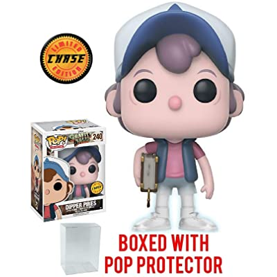 Funko Pop! Animation: Gravity Falls - Dipper Pines CHASE VARIANT Vinyl Figure (Bundled with Pop BOX PROTECTOR CASE): Toys & Games