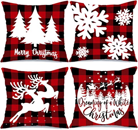 AENEY Christmas Pillow Covers 18x18