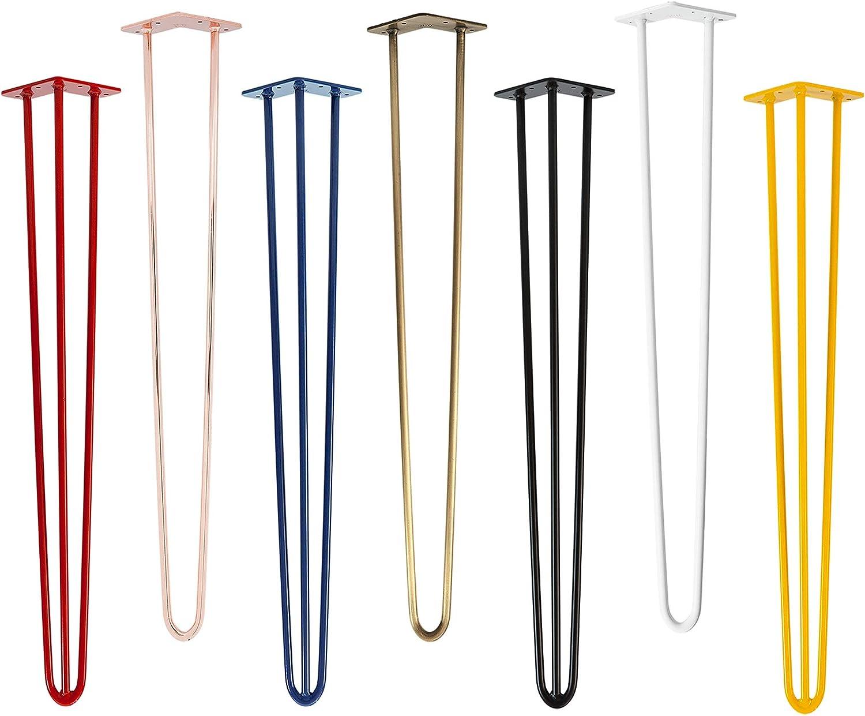 alle Gr/ö/ßen 71cm//3 Streben 4x Natural Goods Berlin Hairpin Leg Tischbeine |12mm Stahl viele Farben Industrial Anthrazit