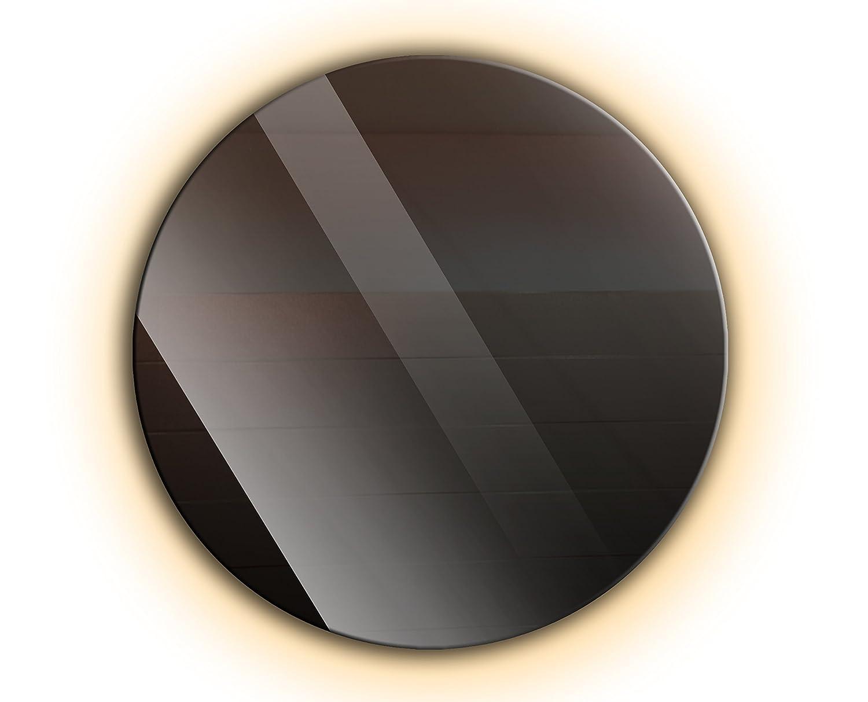 Ramix Runder Spiegel mit LED Beleuchtung, Wandspiegel, Badspiegel, Zimmer, LED-Farbe  WarmWeiß, Größe  70 cm Durchmesser