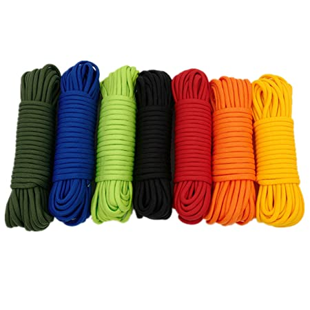 1/4''(6mm) Diamond Braid Nylon Rope, 11 Strands Paracord
