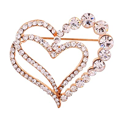 5b3be2432cf29 YAZILIND Jewelry Glaring Pretty Loving Heart Brooches and Pins Vintage for  Women & Girls