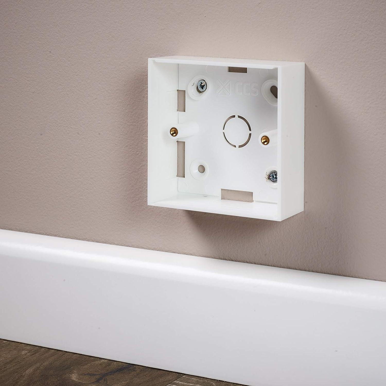 AV Single Gang Back Box 32 mm de profondeur pour modules Euro