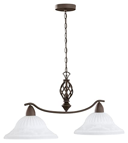 Trio Lighting Rustica Lámpara colgante E27, 60 W, Oxido, 32.5x83x39 cm