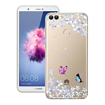 finest selection ed946 05ec0 Yokata Huawei P Smart Case Soft Silicone Case Clear Protective Case Slim  Gel Cover Transparent Phone Case Rubber Bumper Shockproof Shell for Huawei  P ...