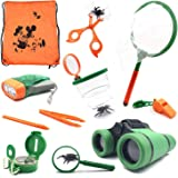 SODIAL Outdoor Kit Toys for Kids - Set of 12 Adventure Kid Camping Exploration Toys, Outdoor Explorer Kit for Kids, Camping Toys for Kids, Boys Birthday Gifts, Gift Boxed.