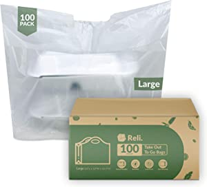 Reli. To Go Bags/Take Out Bags (100 Count) (Large 23