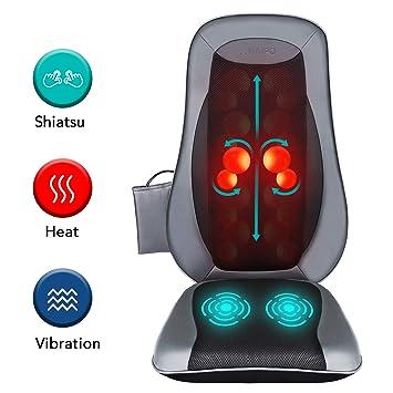 Amazon.com: Naipo Shiatsu - Almohadilla de masaje de espalda ...