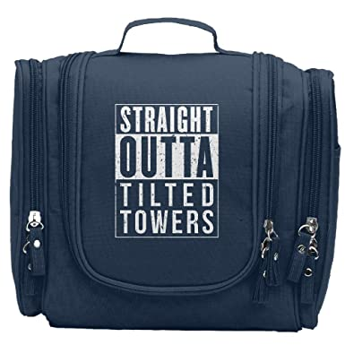 Fortnite Battle Royale Straight Outta Tilted Towers Womens Multifunctional Portable Cosmetic Bag Navy