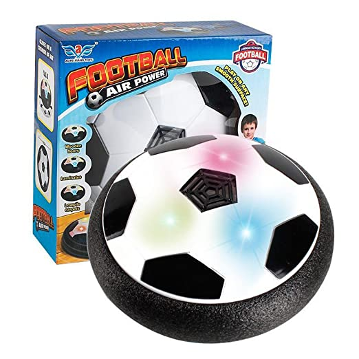 Kids Toys Air Power Soccer Disk Football KILI BEAM The Amazing Hover Ball with powerful LED light Size 4 Boys Girls Sport Children Pet Dog Light-Up Toys Indoor Outdoor Disk Hover Ball Game