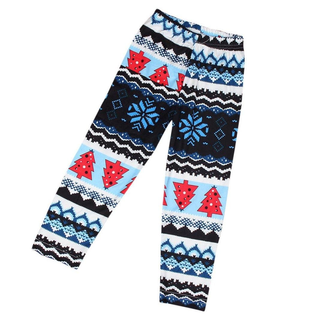 ANBOO Christmas Kids Child Snowflake Reindeer Leggings Skinny Pencil Pant