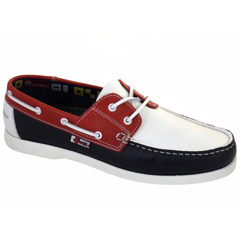 Portugiesisch Beppi Beppi Beppi Deck Damen aus Leder Schuhe Rot Weiß Blau f6e2a5