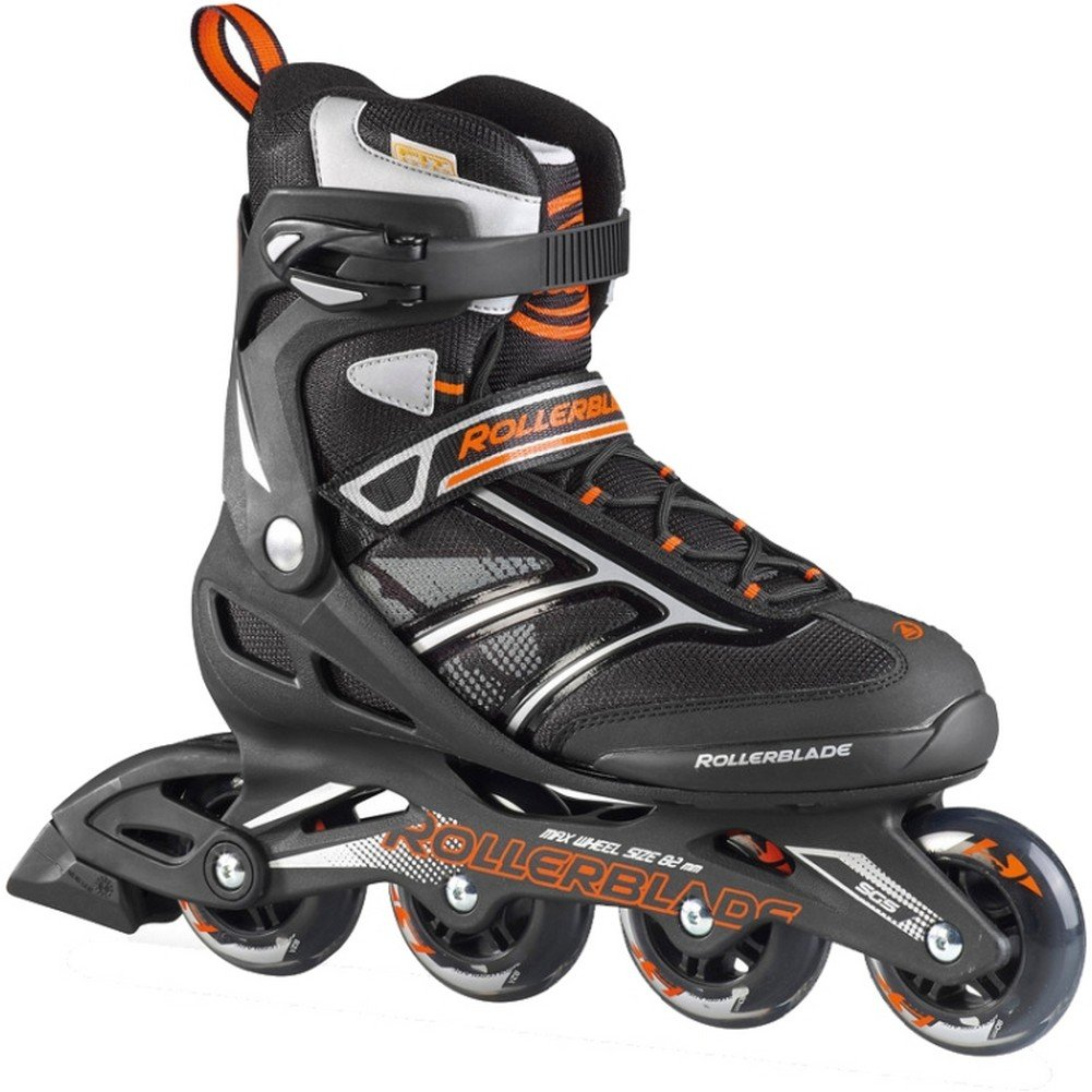 Rollerblade Men's Zetrablade Black/Orange Inline Roller Skate 07503200956 (9)