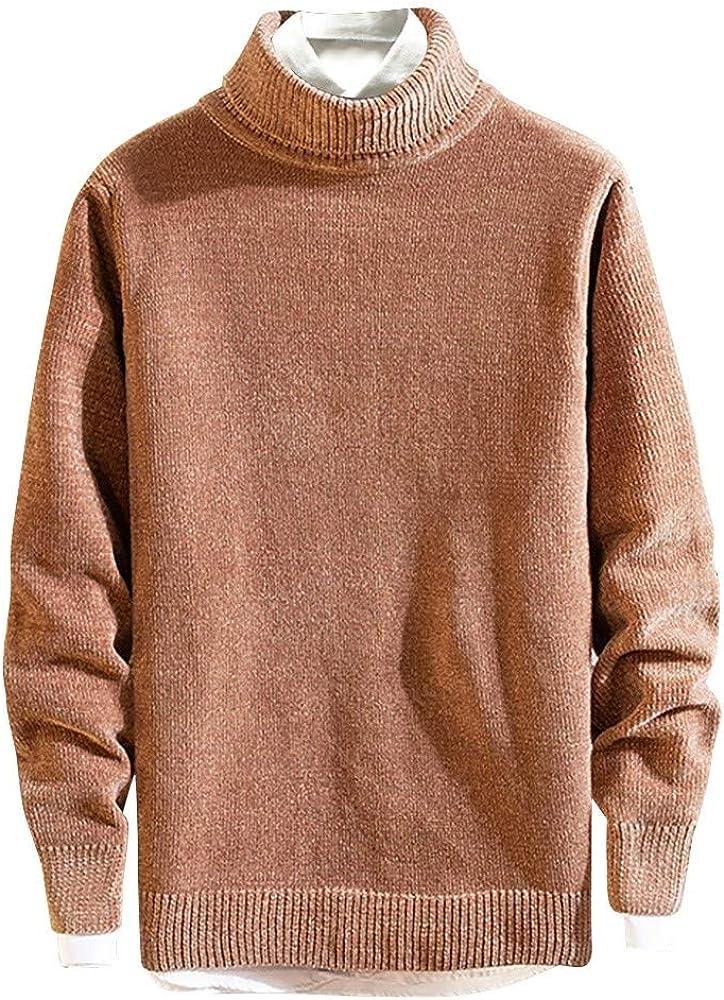 Luckycat Hombre Jersey De Punto Calentito Redondo SuéTer De Cuello Redondo Longsleeve Camisa SuéTer Sweater Suéter para Hombre Cuello Alto Jersey de Punto Básico Manga Larga de Color Liso: Amazon.es: Ropa y