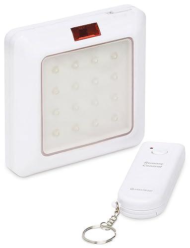 Lámpara LED Bombilla Foco con Mando a distancia, funciona con pilas 10 m de alcance
