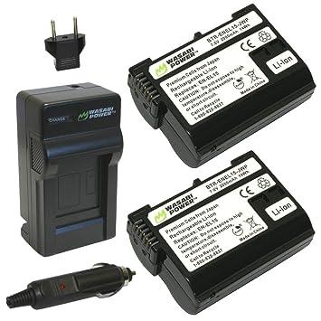 Amazon.com: Wasabi Power Batería y Cargador para Nikon EN ...