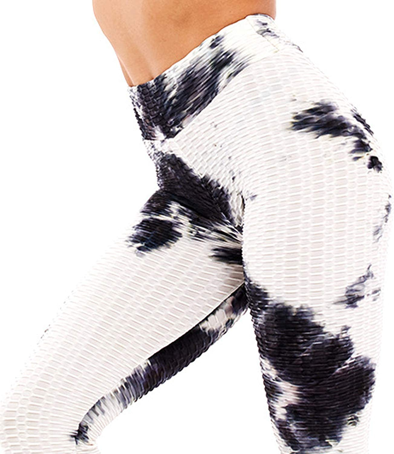 Scrunch Booty Yoga Pants Ruched Butt Lifting Sport Tights BITSEACOCO High Waisted Workout Yoga Leggings for Women