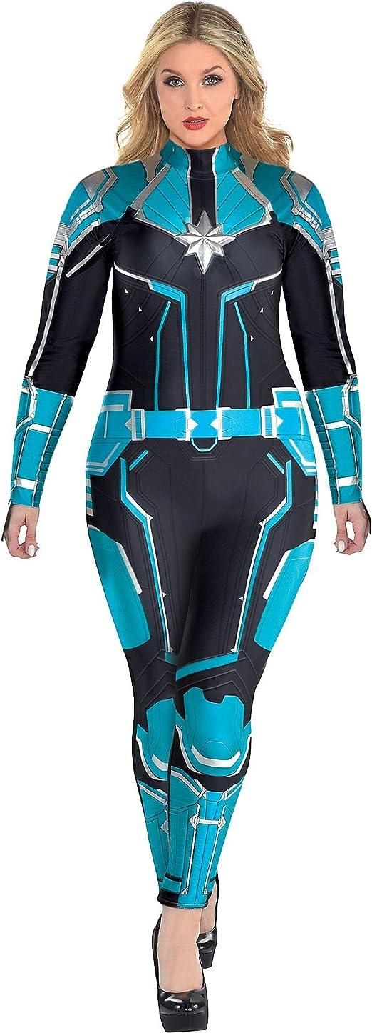 Dress Size 18-20 Light-Up Captain Marvel Halloween Costume for Women Plus Size