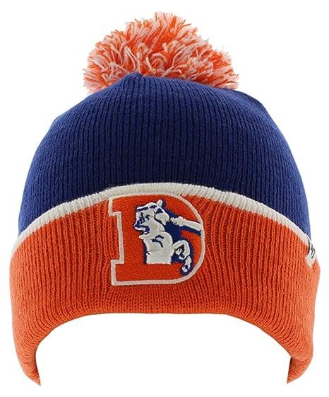 47 Brand Mens Denver Broncos Baraka Two Tone Cuff Knit Royal Blue One Size ff5ad0ffa