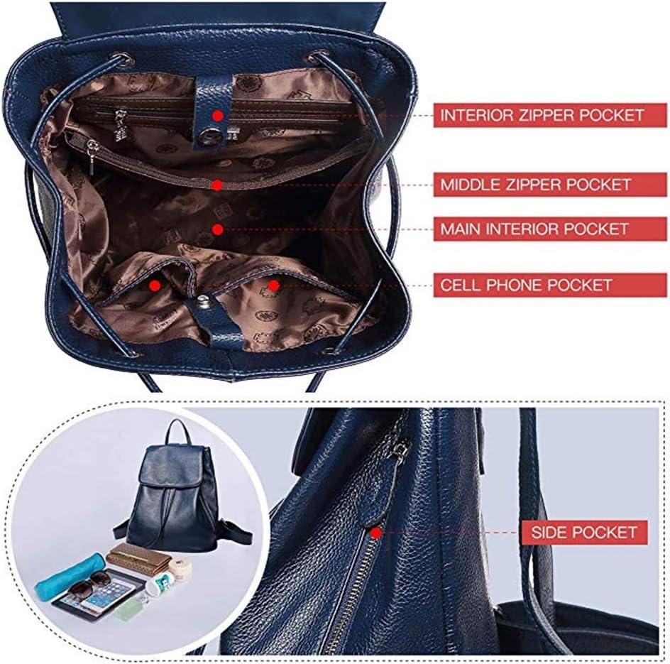 LYN&LYN Zaino Donna Borse a Zainetto Borse a Spalla Casual Multifunzione antifurto Borse Backpack Daypack Viaggio Lavoro (PU),B F