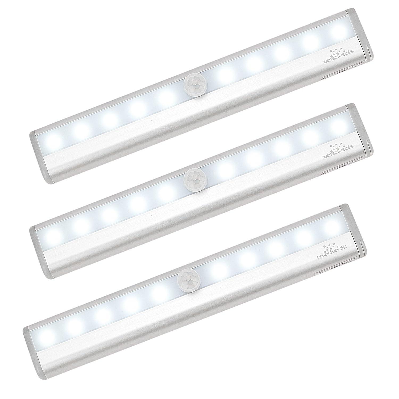 LeadledsモーションセンサーライトLED自動 3パック ホワイト LLDI-007W-3 B01IBMP148  3パック