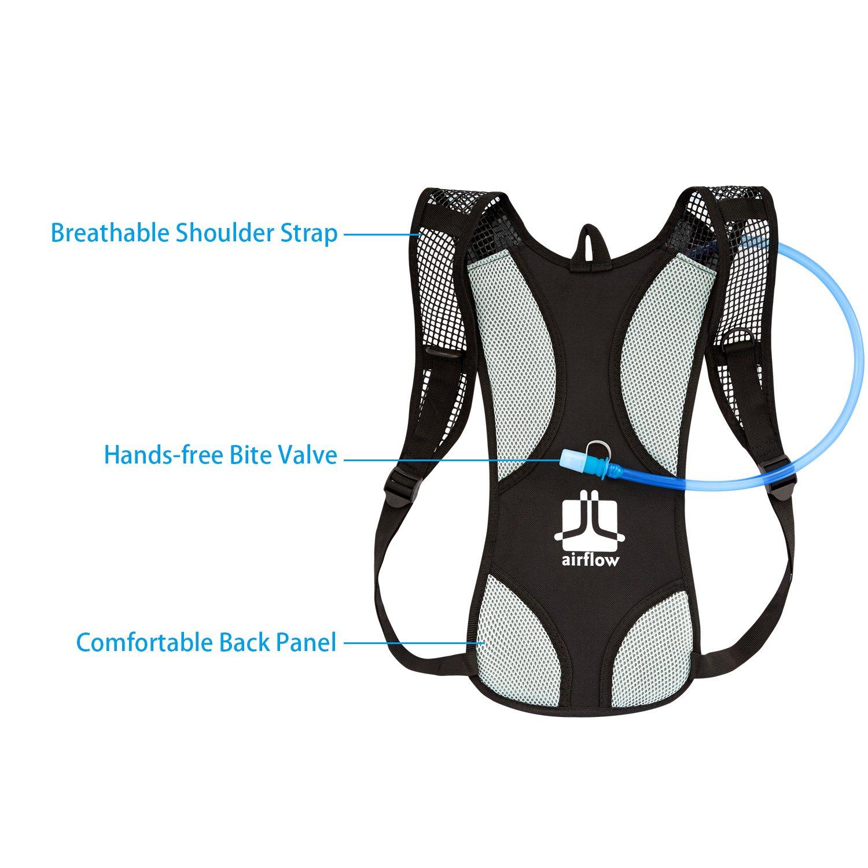 Sacoche /à v/élo avec vessie deau de 2 litres Cyclisme Escalade Camping Sacs de Course Sac /à Dos dhydratation