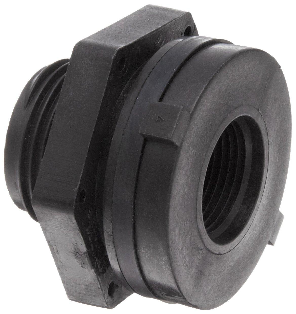 Dixon 60405 Polypropylene Pipe and Welding Fitting Bulkhead 2 NPT Female 3 Hole Size