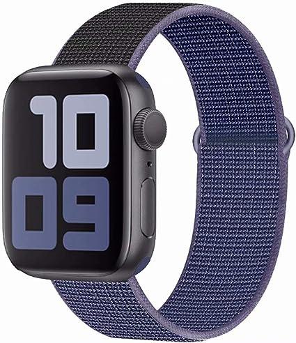 Image ofSSEIHI Correa Compatible con Dispositivos Apple Watch Correa 38mm 40mm 42mm 44mm, Correa de Nylon Deportiva Suave de Repuesto Compatible Iwatch Series 5, Series 4, Series 3, Series 2, Series 1